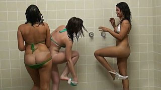 Babes having fun in shower