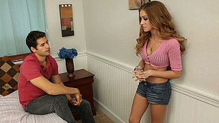 She gets it when he spreads her legs