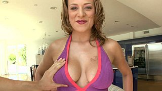 Carmen McCarthy showing her natural tits