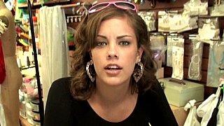 Gorgeous Katie has customers