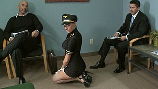 Gorgeous airline stewardess
