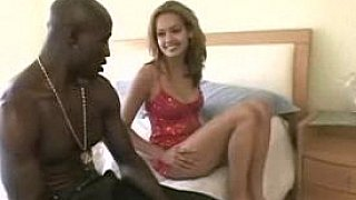Petite babe Daisy Marie takes two big black cocks