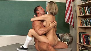 Petite Scarlett and her teacher Mr. Fitzergood