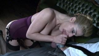 Cathy deepthroating a big one