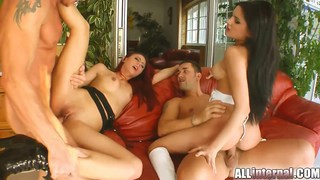 Three loads for two horny girls