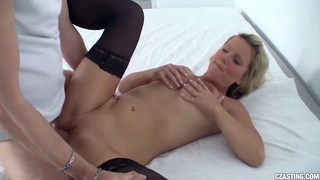 Czech MILF gets fucked by huge dick