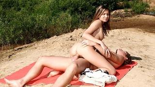 Sandy beach and sexy bitch