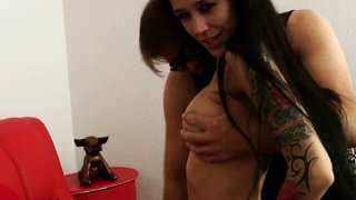 German slut Melanie gets fucked