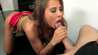 Madison Ivy sucking and titty fucking hard pole