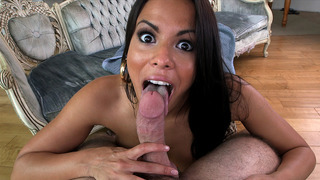 Luna Star sucked on that cock POV style