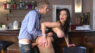Aletta Ocean took his fat dick balls deep in her tight pussy