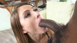 Tiny chick Shiloh Sharada loves sucking that monster cock