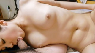 Horny Kurumi nakes out and gets banged hard indoors