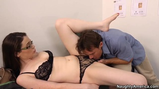 Gullible student Tessa Lane gets screwed hardcore