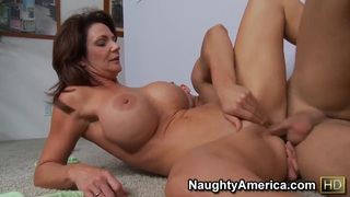 Danny Wylde loving to fuck the busty brunette cougar Deauxma