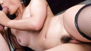 Hardcore threesome with all natural, gorgeous babe Eririka Katagiri