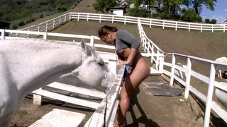 Morgan Lee showed us some of the horses at her farm, being butt naked