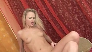 Sweet chick is pleasuring 2 horny and wild peckers