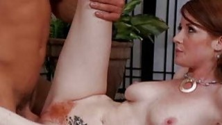 Redhead milf sits her pussy on big cock on spycam