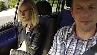 Blonde Whore Banged in Car