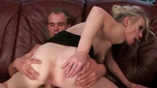 Hot blonde granny loves her boyfriend
