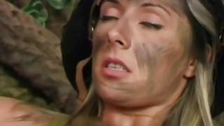 soldier girl deals with her prisoner
