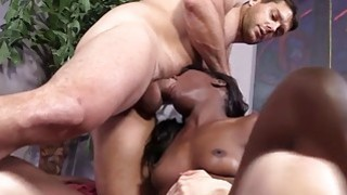 Ana Foxxx Gets Banged By Two White Guys