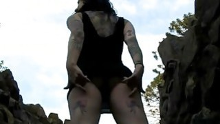ultra punk princess Joanna sucking cock in the garden