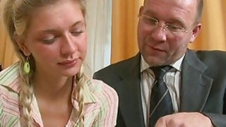 Marvelous old teacher is drilling babe doggystyle