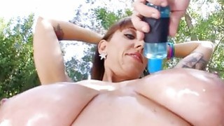Curvaceous angel sucks on studs schlong hungrily