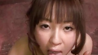 Hitomi Fujihara blows cock in harsh manners