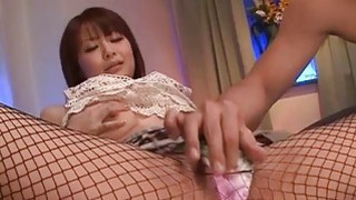 Hunk bangs a lusty oriental playgirl with his cock