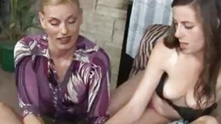 Milf Finds Her Stepdaughter Jerking Off Her Man