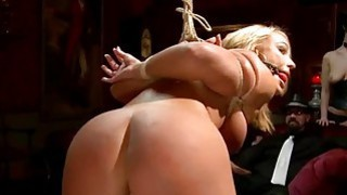Honey gets a outdoor punishment for her twat