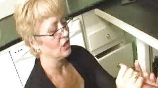Milf Punishes Young Guy For Not Doing Dishes