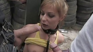 Explicit muff punishment for an sex serf