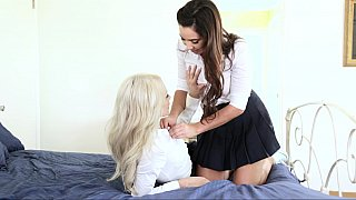 Ridiculous lesbian acts with amazing young nude babes