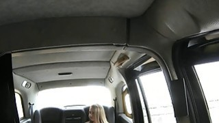 Slim blonde likes it rough with fake driver in the taxi