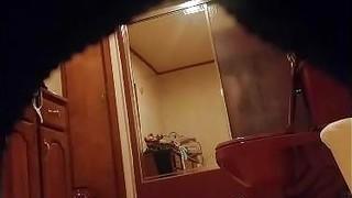 My hot booty Mom secretly filmed in our bathroom