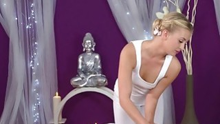Blonde Euro masseuse gets big dick