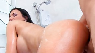 Jasmine gets soapy XXX