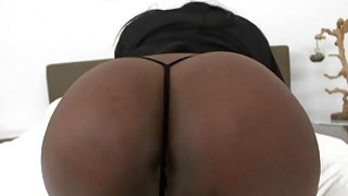 Horny Ebony babe Layton Benton gets fucked by a stiff white dick