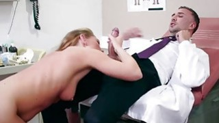 A very horny huge dick fake doctor ate sexy babes wet tight pussy