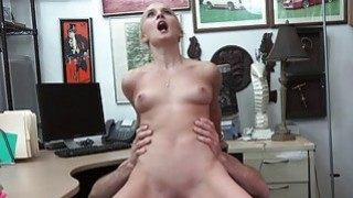 Small tits blonde nailed at the pawnshop
