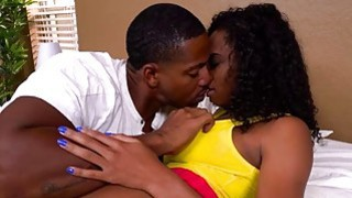 Juicy ass ebony Ivy Young getting fucked by white dick