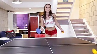 Teen tries table tennis and anal sex