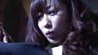 Subtitles bizarre Japanese zentai suit foreplay HD