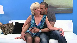 Mature blondie gets fucked
