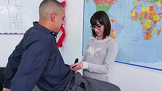 Banging teacher with bangs