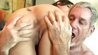 Sadie Holmes is taking dick from an old dude
